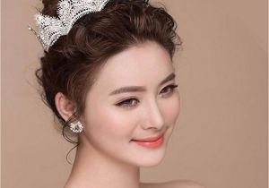 Gothic Wedding Hairstyles Bride Crystal Lace Crown Headpiece Gothic Wedding Bridal