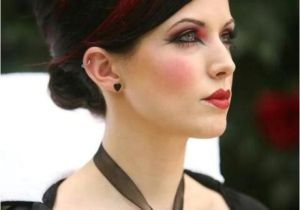 Gothic Wedding Hairstyles Gothic Wedding Red and Black Hair Weddbook