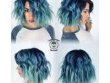 Grunge Bob Haircut 10 Intriguing Blue Hairstyles and Color Ideas 2018 Hair