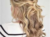 Hair Down Wavy Hairstyles 31 Half Up Half Down Prom Hairstyles