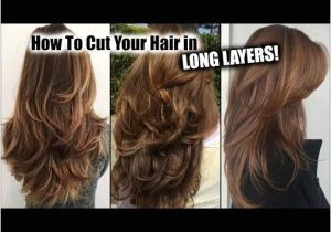 Haircut for Long Hair Youtube How I Cut My Hair at Home In Long Layers │ Long Layered Haircut