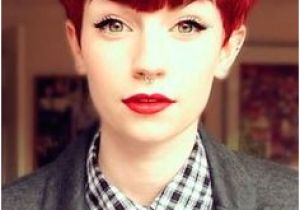 Haircuts Red Deer Red Pixie Cut Amazing Bangs Red Lipstick Liquid Eyeliner Awesome