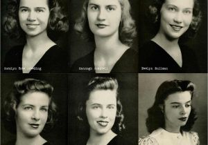 Hairstyle for College Going Girl 1940s College Girl Hairstyles Vintage Hair Pinterest