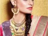 Hairstyle for Indian Wedding Guest Reception Hairstyle and Indian Wedding Hair Style Ideas