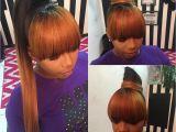 Hairstyles Bangs Ponytails Pin by Madonna Mckinney On Hairrrrr Pinterest