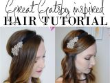 Hairstyles before 1920 Easy 1920 S Great Gatsby Hair Tutorial 1920s Pinterest