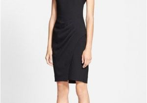 Hairstyles Black Dress L Agence Side Pleated Dress Available at nordstrom