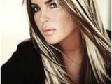Hairstyles Black with Blonde Underneath with Chunky Highlights Long Platinum Hairstyle with Chunky