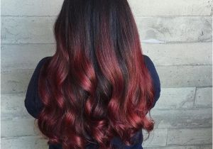 Hairstyles Black with Red Highlights Black Hair with Red Highlights