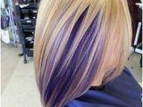 Hairstyles Blonde and Purple Purple Peekaboo Highlights