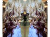 Hairstyles Blonde On top Red Underneath 11 Best Red Streaks Images