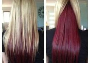 Hairstyles Blonde On top Red Underneath Blonde with Dark Ends Inspiring Ideas Pinterest