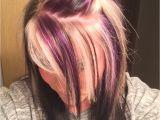Hairstyles Blonde On top Red Underneath Purple Blonde and Black On top with All Black Underneath