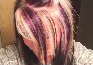 Hairstyles Blonde On top Red Underneath Purple Blonde and Black On top with All Black Underneath