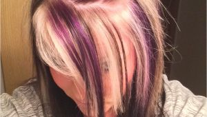 Hairstyles Blonde top Black Underneath Purple Blonde and Black On top with All Black Underneath