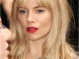Hairstyles Blonde with Fringe tousled Bang Hair