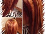 Hairstyles Blonde with Red Underneath All Over Red with Chunky Blonde Highlights