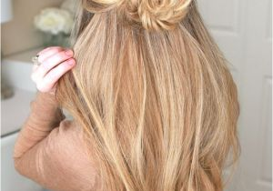 Hairstyles Braids with Hair Down Tutorials Image Result for Rose Bun Half Up Half Down