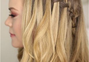 Hairstyles Braids with Hair Down Tutorials Tutorial Waterfall Braid Half Updo Hairstyles