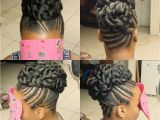 Hairstyles Braids with Hair Up Quick Braid Updo My Crowns In 2019 Pinterest