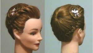 Hairstyles Buns Youtube ▷ Прическа Корзинка ПРетение кос Never Ending French Braid Bun