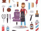 Hairstyles Clip Art Free Barbershop Hairdresser Beard Hipster Man Vector Character Making
