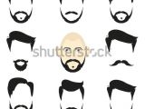 Hairstyles Clip Art Free Face Blank Templates Hairstyles Beards Hipster Stock Vector Royalty