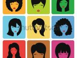 Hairstyles Clip Art Free Hairstyle Silhouette Womangirlfemale Hair Icon Beauty Vector