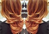 Hairstyles Curly Blow Dry Blow Out with Curl On the Bottom On Gorgeous Red Gold Hair Wavy
