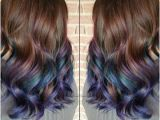 Hairstyles Dip Dyed Hair Here S How to Get Rainbow Hair if You Re A Brunette In 2019