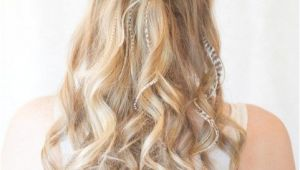 Hairstyles Down and Wavy Prom Hairstyles with Brids for Long Curly Hair Half Up Half Down In
