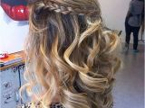 Hairstyles Down Curly Braid 31 Half Up Half Down Prom Hairstyles