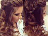 Hairstyles Down to the Side Braided Hairstyles with Curls Prom Long Hairstyle Ideas