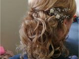 Hairstyles Down to the Side Half Up Half Down Bridal Hair Style Bit Of Height and A Lovely Side