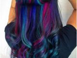 Hairstyles Dyed Underneath Black Teal & Purple Hair Underlights Hairbyjessq
