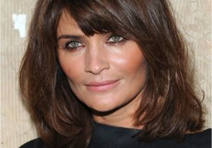 Hairstyles for Bangs to Keep Out Of Face Side Swept Bangs Shoulder Length Hair for Square Faces
