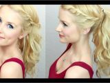 Hairstyles for Bangs Youtube Cute & Easy Twisted Ponytail Much Requested
