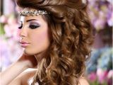 Hairstyles for Curly Hair In Pakistan Arabic Bridal Hairstyles Bridal Hairstyle