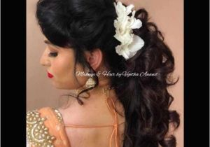 Hairstyles for Curly Hair On Lehenga 14 Elegant Hairstyle Indian Wedding