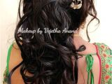 Hairstyles for Curly Hair while Wearing Saree Romantic Bridal Updo by Vejetha for Swank Bridal Hairstyle Curls
