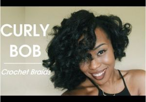 Hairstyles for Curly Short Hair Youtube Styling Crochet Braids Curly Voluminous Bob
