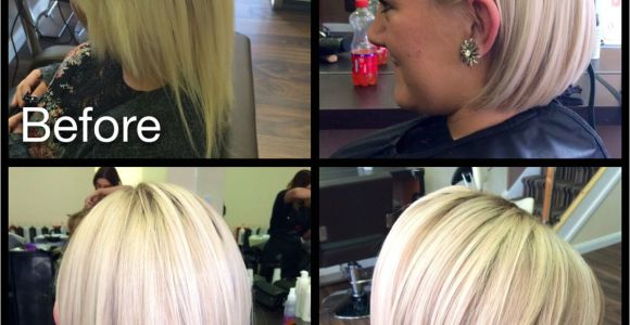 Hairstyles for Damaged Blonde Hair Transformation From Box Colour & Damaged to Blonde & Sharp