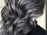 Hairstyles for Dark Hair Going Grey soft Smokey Silver Grey Highlights On Dark Hair ♡