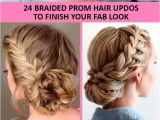Hairstyles for Homecoming with Braids 42 Braided Prom Hair Updos to Finish Your Fab Look
