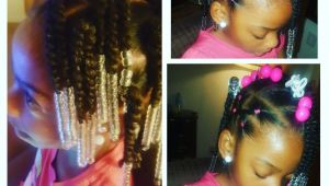 Hairstyles for Little Black Girls with Natural Hair Simple Hair Styles for Little Black Girls Braids Beads and