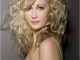 Hairstyles for Long Blonde Curly Hair Long Wavy Layered Hairstyles with Side Bangs