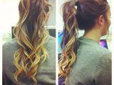 Hairstyles for Long Hair Dip Dyed Curled Dip Dye Ponytail Hair