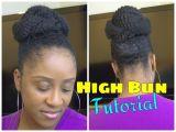 Hairstyles for Marley Braids Easy Marley Braid High Bun Natural Hair Tutorial
