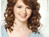 Hairstyles for Medium Length Curly Hair with Side Bangs Low Maintenance Hairstyles for Girls with Curly Hair