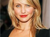 Hairstyles for Round Face Long Nose Cameron Diaz Straight Medium Length Hair Style Hairstyles